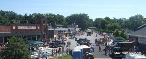 lake fest parade from feris wheel